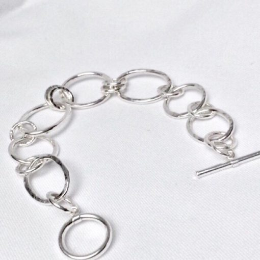 Zara silver link bracelet with t bar clasp