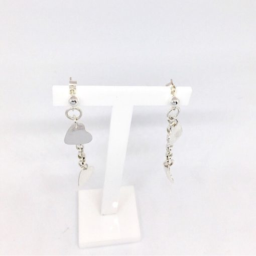Silver dangly earrings