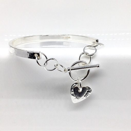 Silver bangle and bracelet combination