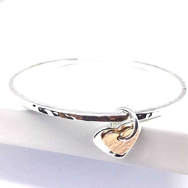 for vintage women bracelet love bangle forever heart new gold bangles stainless charm rose steel
