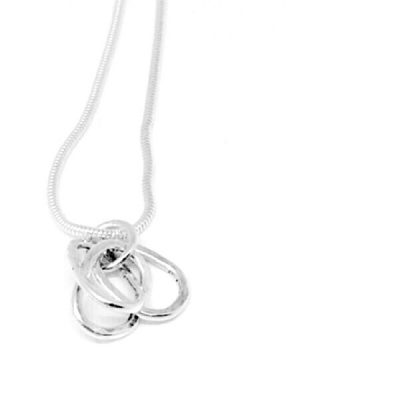 Silver oval links pendant
