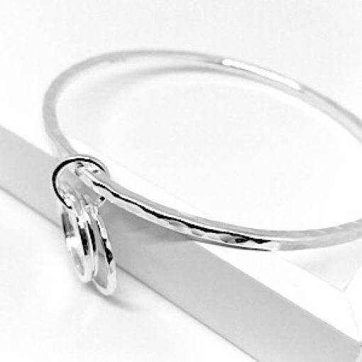 Solid silver stacking bangle
