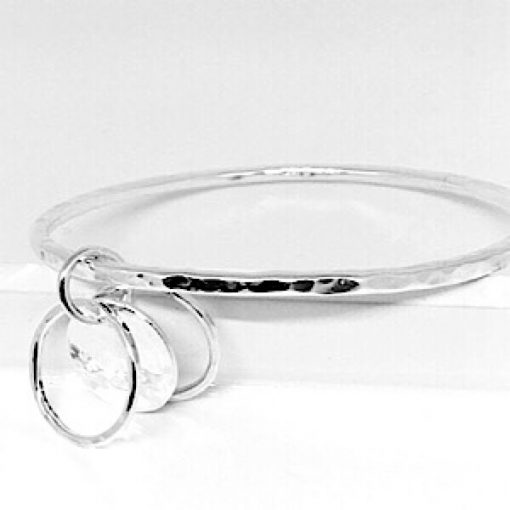 Silver personalised bangle