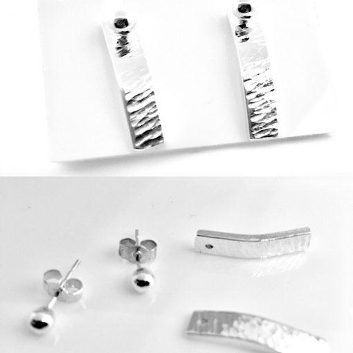 Versatile 2 way silver earrings