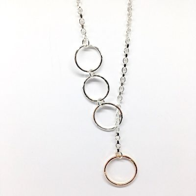 circles and chain necklace