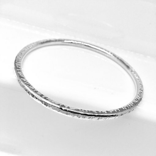 chunky solid silver bangle
